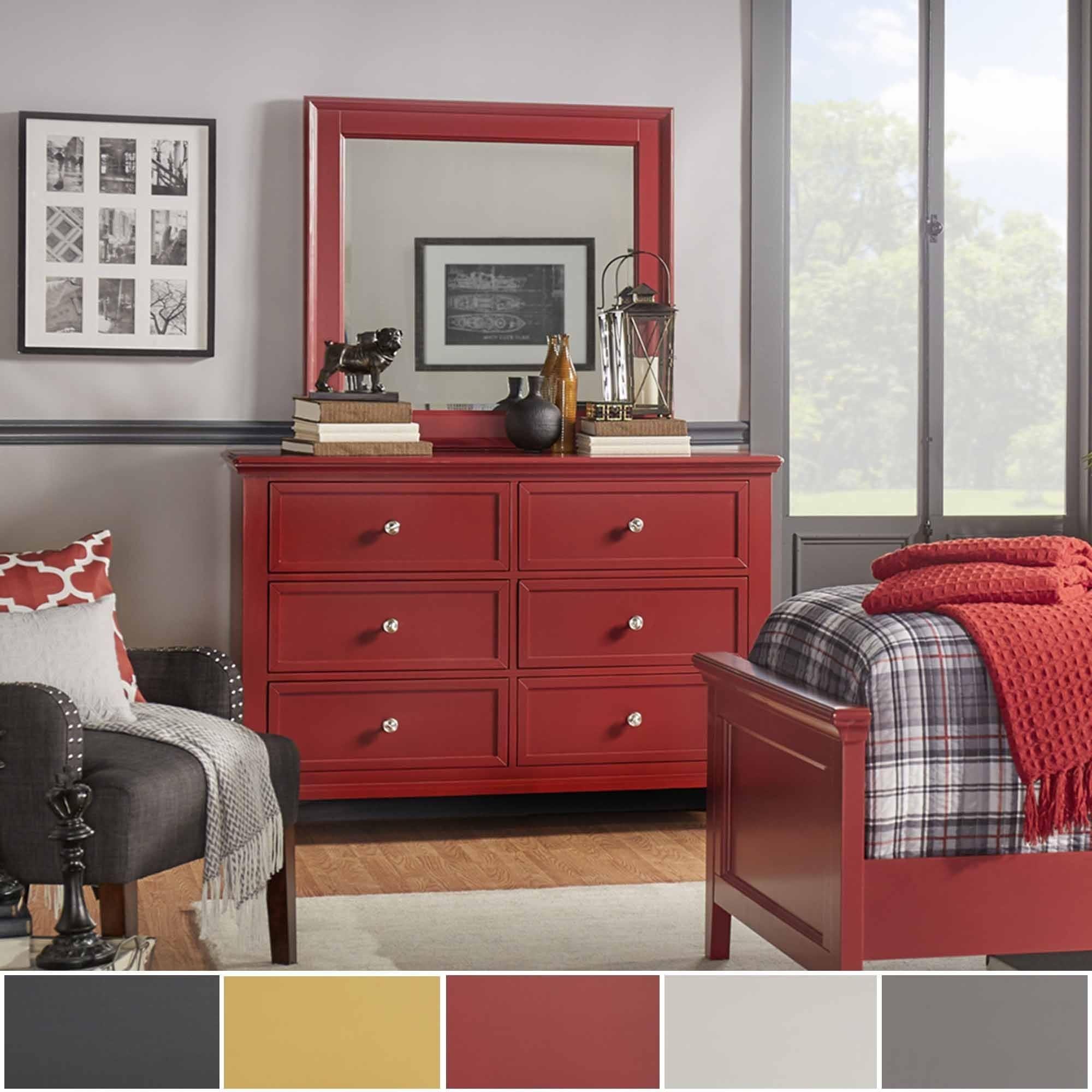 Preston 2 Drawer Wide Dresser And Mirror By INSPIRE Q Junior