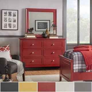 Preston 2-drawer Wide Dresser and Mirror by iNSPIRE Q Junior|https://ak1.ostkcdn.com/images/products/11782576/P18693417.jpg?impolicy=medium
