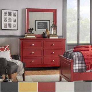 Preston 2-drawer Wide Dresser and Mirror by iNSPIRE Q Junior (2 options available)