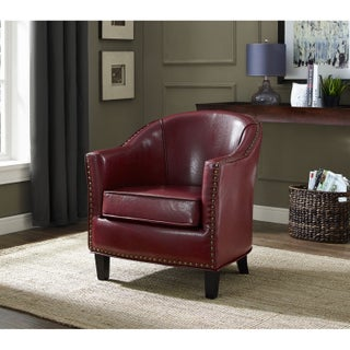 WYNDENHALL Albany Bonded Leather Tub Chair (3 options available)
