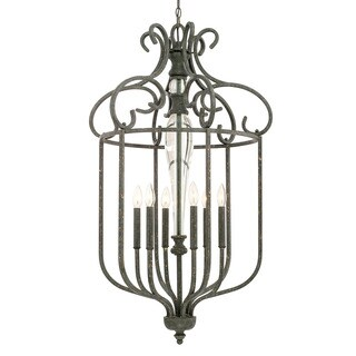 Capital Lighting Everleigh Collection 6-light French Greige Foyer Fixture