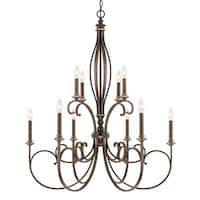Capital Lighting Kingsley Collection 10-light Dark Spice Chandelier
