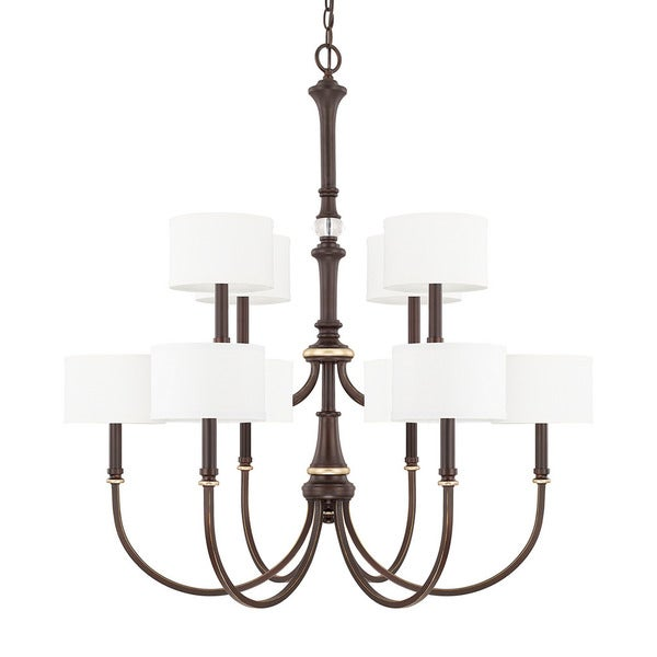 Capital Lighting Asher Collection 10-light Champagne Bronze Chandelier