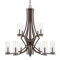 Capital Lighting Stella Collection 10-light Burnished Bronze Chandelier