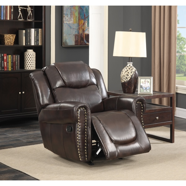 cream leather living room chairs manhattan dark brown bonded leather living room rocking 13608 | Manhattan Dark Brown Bonded Leather Living Room Rocking Reclining Chair 711ffa66 3721 424b 8839 60052c3b1c93 600