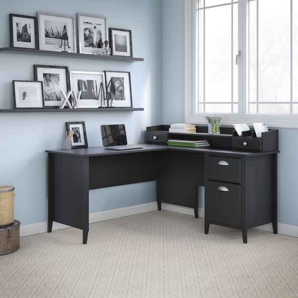 kathy ireland office by bush furniture connecticut 60 inch l desk and