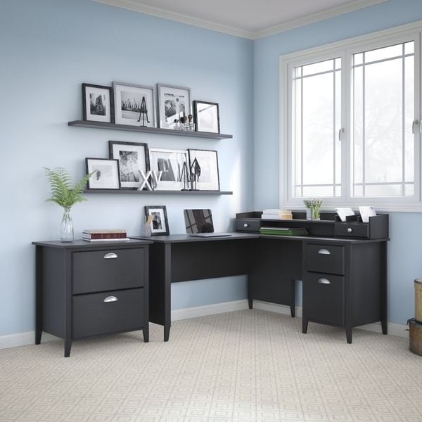 Kathy Ireland Office by Bush Furniture Connecticut 60-inch L-Desk and