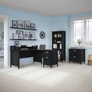 kathy ireland Office by Bush Furniture Connecticut 60W L-Desk