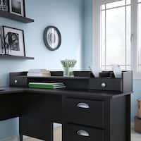 kathy ireland® Office Connecticut 60W Organizer in Black Suede Oak