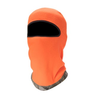 Quiet Wear Orange-and-Camouflage Reversible Fleece 1-Hole Mask