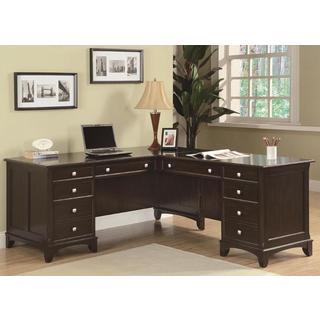 Gilson Brown Wood L-shaped Desk