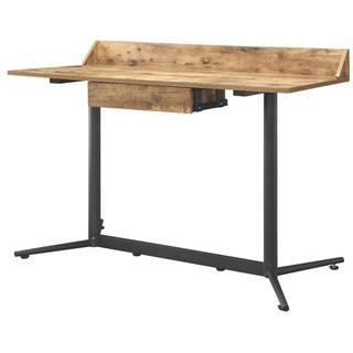 Allen Walnut-Finish Wood And Metal Industrial Desk