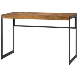 Stella Industrial Black/Brown Metal and Wood 46.5-inch Computer Desk