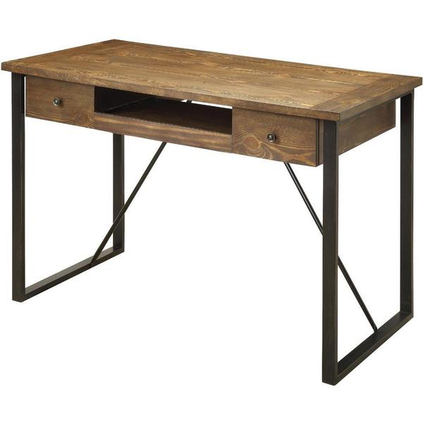 Shop Poe Industrial Style Computer Desk Free Shipping