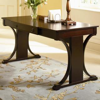 Crestwood Transitional Table Desk With Keyboard Drawer