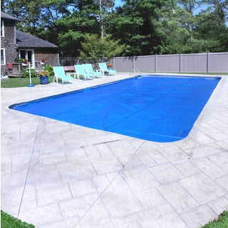Pool Mate Deluxe 5-Year Blue/Silver Solar Blanket for In-Ground Swimming Pools