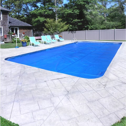 Pool Mate Deluxe 3-Year Blue Solar Blanket for In-Ground Swimming Pools