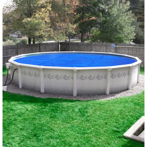 Pool Mate Deluxe 5-year Blue/Silver Polypropylene Above Ground Swimming Pool Solar Blanket