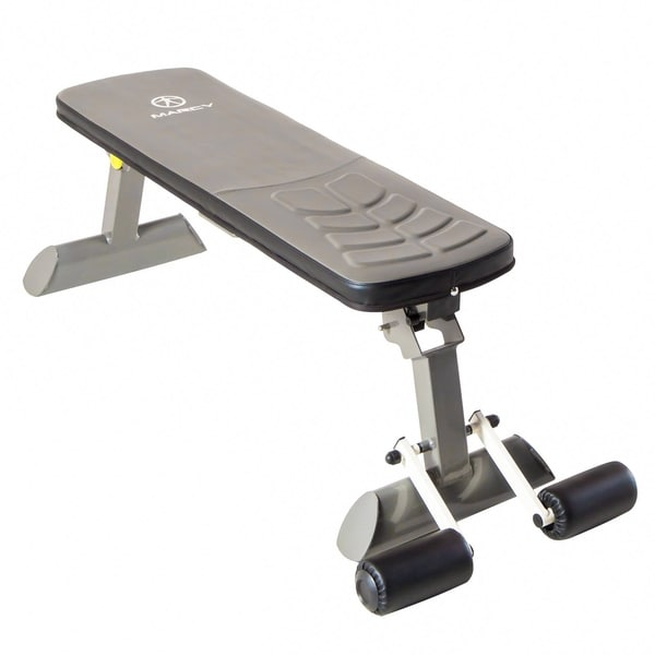 Shop Marcy Flat Upholstered Exercise Bench Free Shipping Today Overstock 11782837