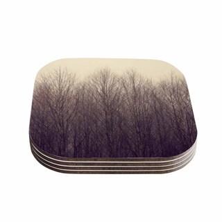 Kess InHouse Robin Dickinson 'Forest' Beige Brown Coasters (Set of 4)