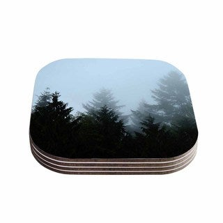 Kess InHouse Robin Dickinson 'Welcome to Earth' Mist Forest Coasters (Set of 4)