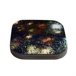 Kess InHouse Robin Dickinson 'Blinded' Water Black Coasters (Set of 4)