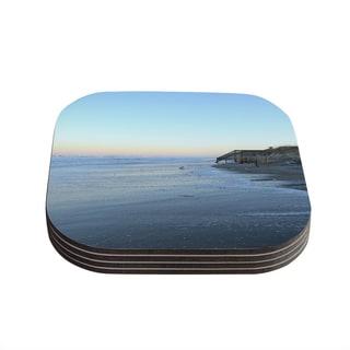 Kess InHouse Robin Dickinson 'Sand Surf Sunshine' Beach Coasters (Set of 4)