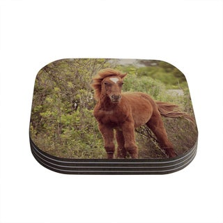 Kess InHouse Robin Dickinson 'Confuscous' Brown Green Coasters (Set of 4)