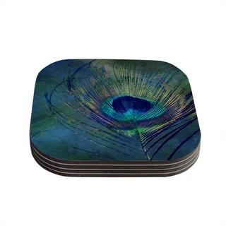 Kess InHouse Robin Dickinson 'Plume' Coasters (Set of 4)
