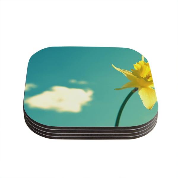 Kess InHouse Robin Dickinson 'Daffodil' Coasters (Set of 4)