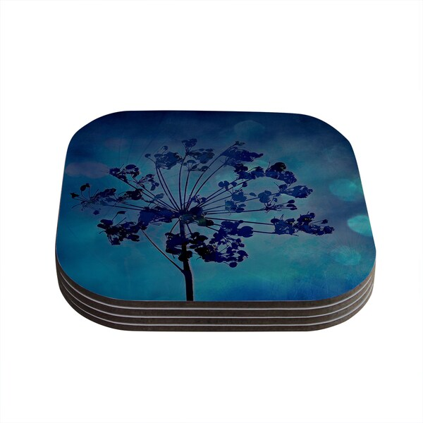 Kess InHouse Robin Dickinson 'Grapesiscle' Coasters (Set of 4)