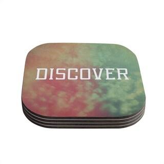 Kess InHouse Rachel Burbee 'Discover' Green Orange Coasters (Set of 4)