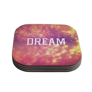 Kess InHouse Rachel Burbee 'Dream' Pink Orange Coasters (Set of 4)