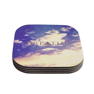 Kess InHouse Rachel Burbee 'Breathe' Coasters (Set of 4)