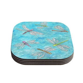 Kess InHouse Rosie Brown 'Dragonfly' Coasters (Set of 4)