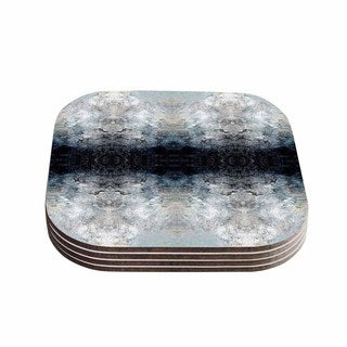 Kess InHouse Pia Schneider 'Heavenly Abstraction l' Blue Digital Coasters (Set of 4)