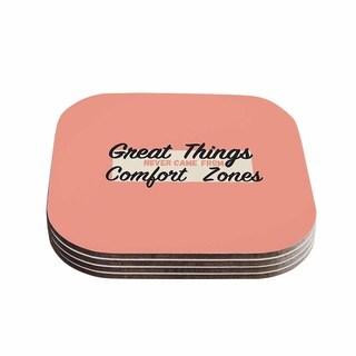 Kess InHouse Juan Paolo 'Great Things' Digital Vintage Coasters (Set of 4)