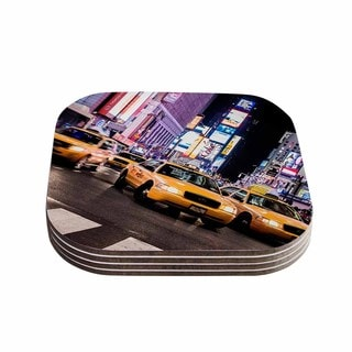Kess InHouse Juan Paolo 'Rush Hour' Travel Urban Coasters (Set of 4)