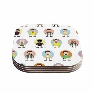 Kess InHouse Juan Paolo 'The Stages of Walter White' Breaking Bad Coasters (Set of 4)