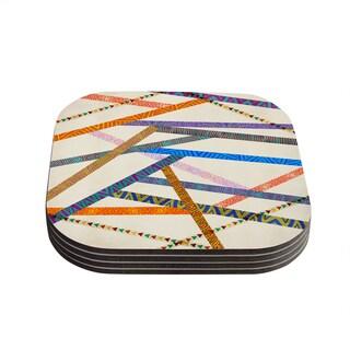 Kess InHouse Pom Graphic Design 'Unparalleled' Coasters (Set of 4)