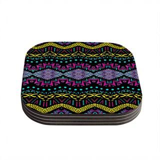 Kess InHouse Pom Graphic Design 'Tribal Dominance' Coasters (Set of 4)