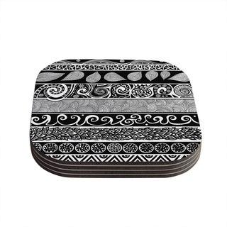 Kess InHouse Pom Graphic Design 'Tribal Evolution' Coasters (Set of 4)