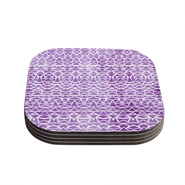 Kess InHouse Pom Graphic Design 'Tribal Mosaic' Coasters (Set of 4)