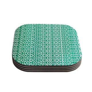 Kess InHouse Pom Graphic Design 'Tribal Forrest' Coasters (Set of 4)