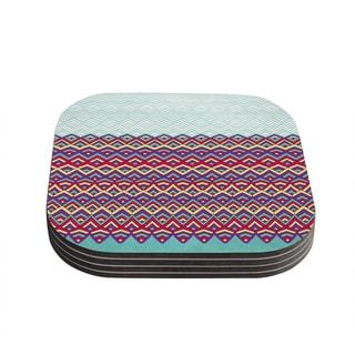 Kess InHouse Pom Graphic Design 'Horizons' Coasters (Set of 4)
