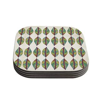 Kess InHouse Pom Graphic Design 'Tribal Leaves' Coasters (Set of 4)