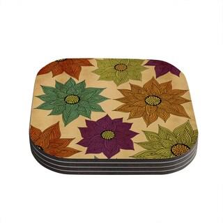 Kess InHouse Pom Graphic Design 'Color Me Floral' Coasters (Set of 4)