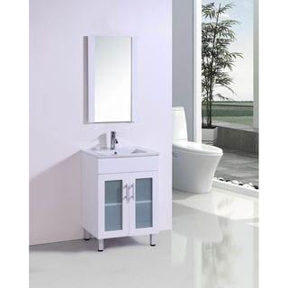 modern white bathroom cabinets. belvedere 24-inch modern white bathroom vanity with ceramic countertop cabinets