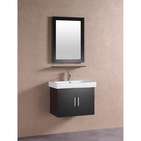 Belvedere Modern Espresso 28-inch Floating Bathroom Vanity
