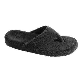 Women's Acorn New Spa Thong Black